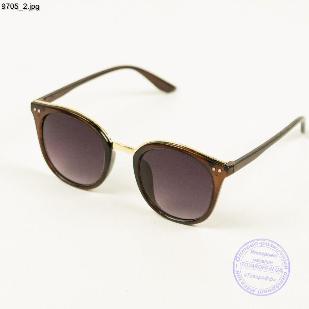 Модные солнцезащитные очки - Коричневые - 9705
