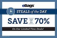 Скидки до 70 % на сайте ebags.com