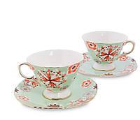 Чайный набор на 2 персоны Антонелла из костяного фарфора Pavone AS-44, фото 1