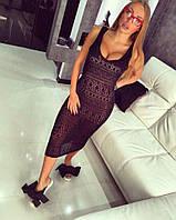 Платье-майка ниже колен