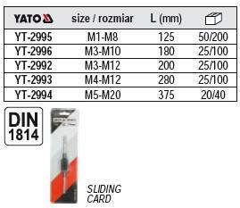 Вороток для метчиков M3-M10 Yato YT-2997, фото 2