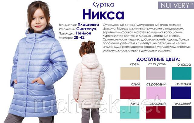 Детский плащ Никса Украина