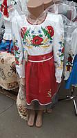 Национальный вышитый костюм платье для девочек