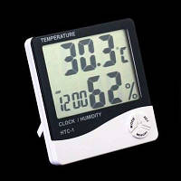 Цифровой термо-гигрометр AIRO HTC-1 (термометр (-20 °C~+60 °C), гигрометр (20%-80%RH), часы-будильник)