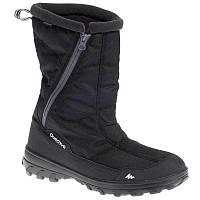 Ботинки мужские зимние водонепроницаемые Quechua ARPENAZ 500 WARM черные