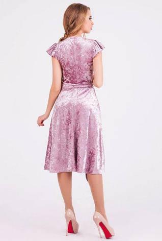 Нарядное платье женское Ванесса велюр пудра цвет  размер 42,44,46,48, фото 2