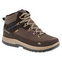 Ботинки мужские зимние водонепроницаемые Quechua ARPENAZ 500 MID WARM коричневые