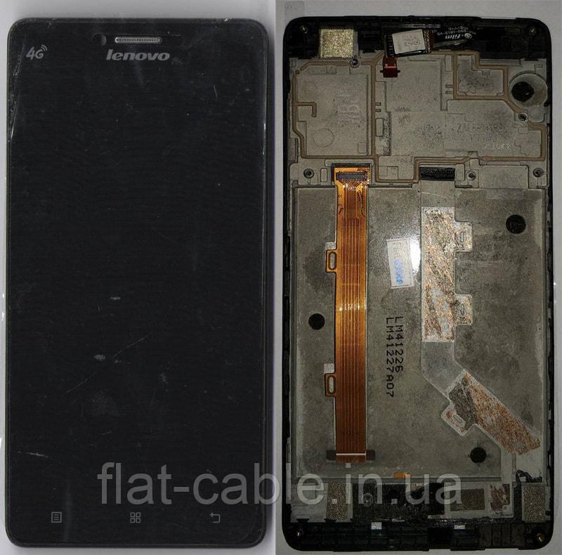 Дисплей + сенсор Lenovo A858t с рамкой