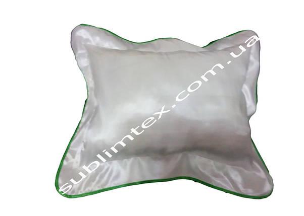 Подушка атласная,искусственный наполнитель,метод печати сублимация,размер 35х45см,цвет Каймы зеленый, фото 2