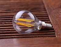 Светодиодная прозрачная лампа Filament 4Вт E14 LM390 G45 4500K, фото 1