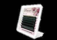 Ресницы С Цветными Кончиками (Зеленые) 6 Линий 0.07, R