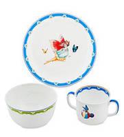 Набор детской посуды на 3 предмета Эльф JK-165