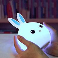 Оригинальный детский  ночник Rabbit Silicone Lamp, LED лампа, светильник силиконовый.