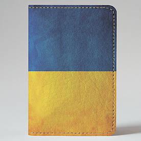 Обкладинка на автодокументи 1.0 Fisher Gifts 07 Синьо-жовтий фон (еко-шкіра)