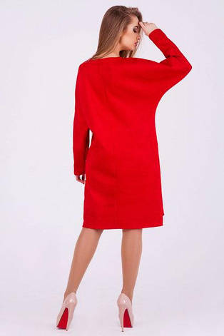Женское платье Марго замш цвет красный размер 42, 44, 46, 48, фото 2