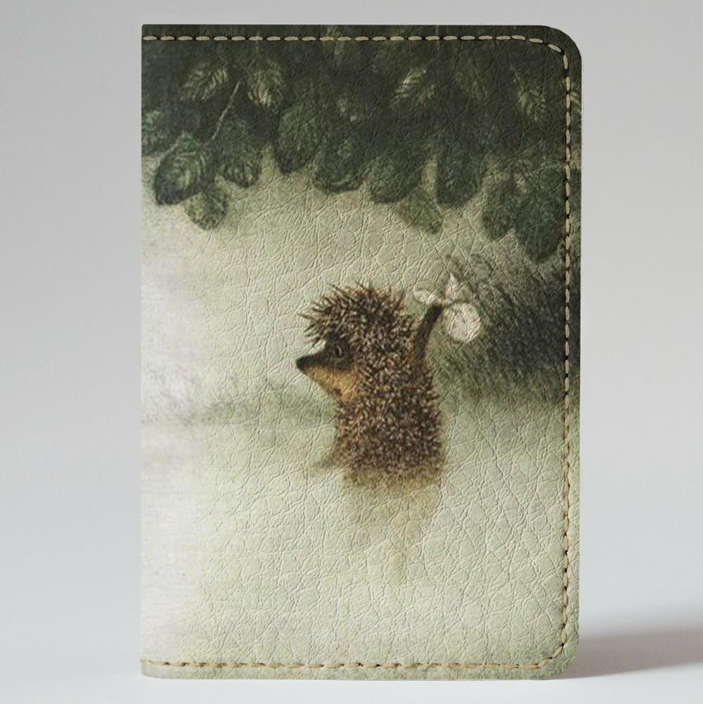 Обложка на автодокументы 1.0 Fisher Gifts 39 Ежик в тумане (эко-кожа)