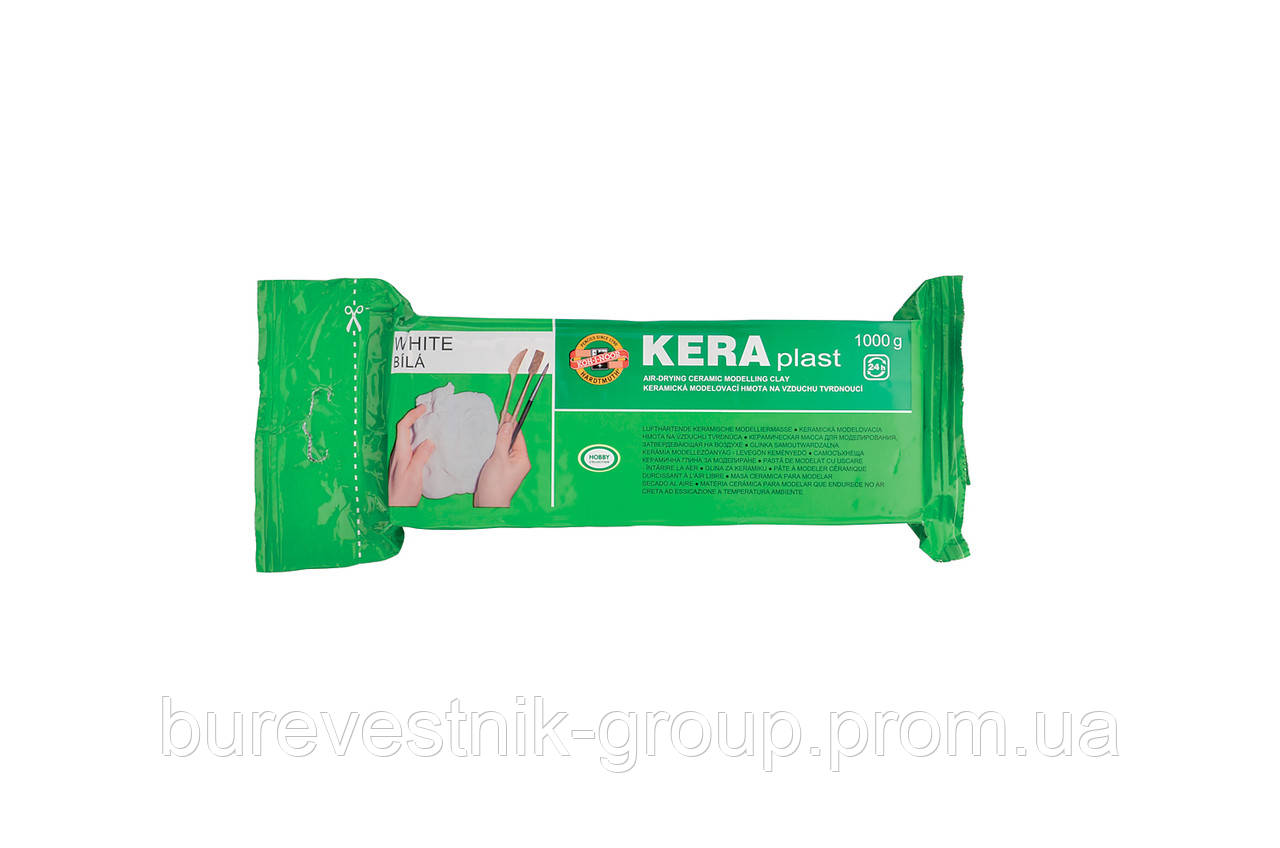 """Моделирующая глина, керамическая паста, масса для лепки Koh-I-Noor """"KeraPlast """" 1000г., белый ( 013170600000 )"""