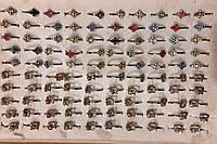 Кольцо детское металлическое с камнями