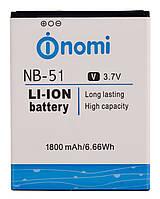 Аккумулятор к телефону Nomi NB-51 1800mAh