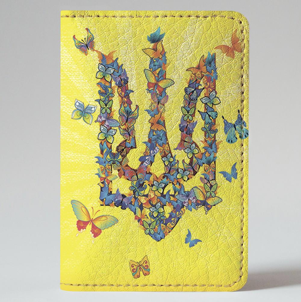 Обложка на автодокументы Fisher Gifts v.1.0. 57 Герб из бабочек (эко-кожа)