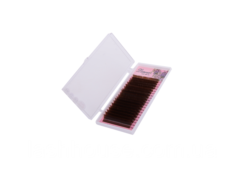 Ресницы Lamour темно-коричневые (MiX)