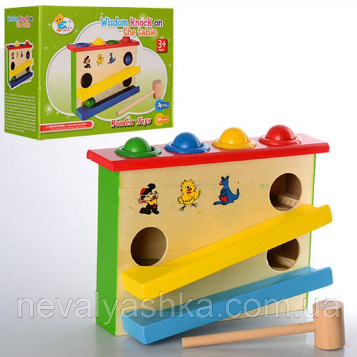 Деревянная игрушка Колотушка Стучалка, MD 0910, 005053