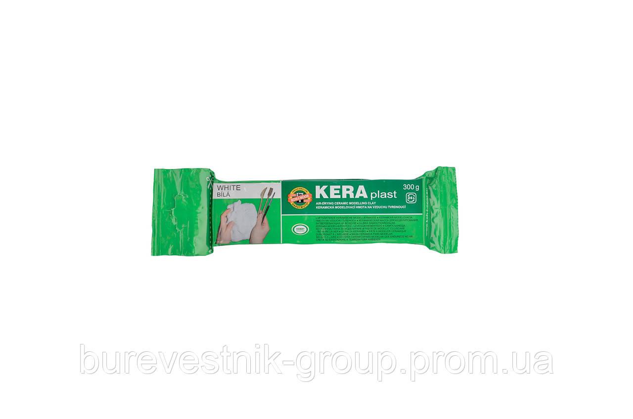 """Моделирующая глина, керамическая паста, масса для лепки Koh-I-Noor """"KeraPlast """" 300г., белый ( 013170800000 )"""