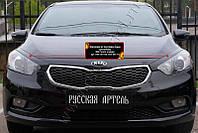 Накладки на передние фары (реснички) KIA Cerato (седан) 2013-2016 г.в.