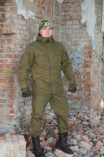"""Зимова куртка """"Варяг"""" 100% х / б намет + флісова підкладка"""