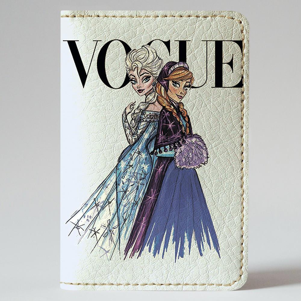 Обложка на автодокументы v.1.0. Fisher Gifts 117 Анна и Эльза VOGUE (эко-кожа)