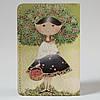 Обложка на автодокументы Fisher Gifts v.1.0. 122 Девушка с вишнями (эко-кожа), фото 5