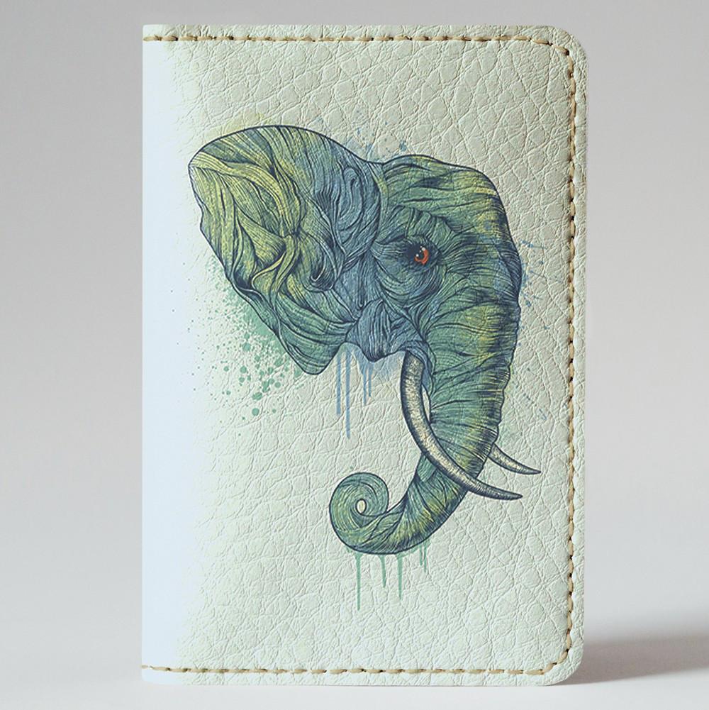 Обложка на автодокументы Fisher Gifts v.1.0. 139 Слон арт (эко-кожа)