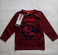 Реглан для мальчика 9-12 месяцев, кофта с длинным рукавом размер 80 ТМ Name it сток Бордовый 13120991