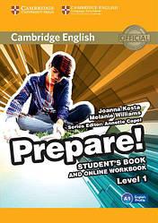 Cambridge English Prepare! 1 Student's Book with Online Workbook (Учебник)
