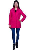 Женское пальто - кардиган , малиновый цвет, осень-весна