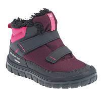 Ботинки детские Quechua MID ARPENAZ 100 WARM бордовые