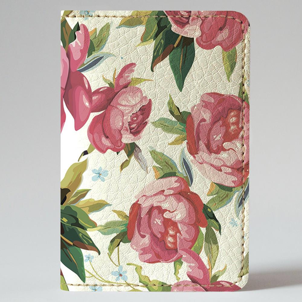 Обложка на автодокументы Fisher Gifts v.1.0. 181 Нарисованные розы (эко-кожа)