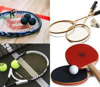 Сквош, бадминтон, большой теннис, настольный теннис