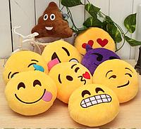 Декоративные подушки Смайл Улыбка Emoji 30 см. Подушка смайлик, фото 1