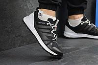 Мужские кроссовки Adidas Terrex Boost, черно-белые / кроссовки мужские Адидас Терекс Буст, кожаные, модные