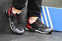 Мужские кроссовки Adidas Terrex Boost, черные с красным / кроссовки мужские Адидас Терекс Буст, пресс кожа