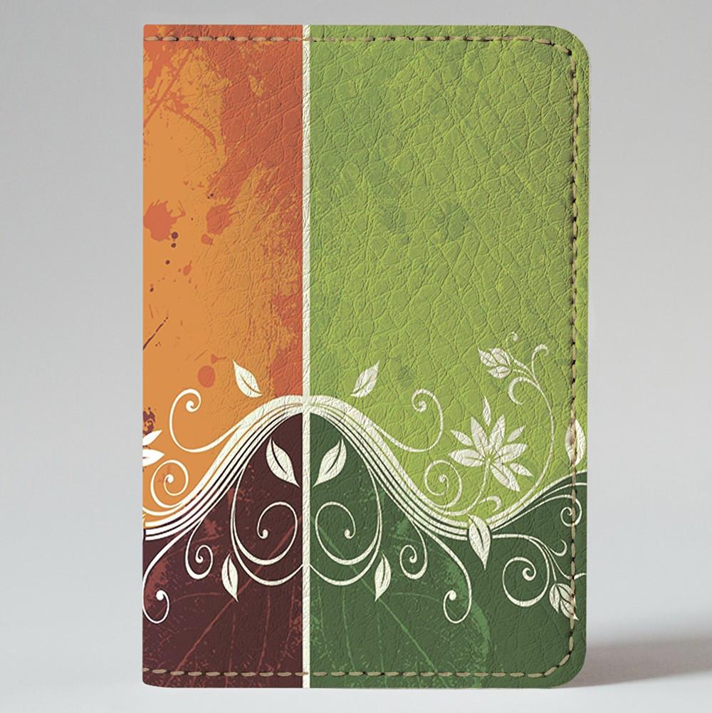 Обложка на автодокументы 1.0 Fisher Gifts 220 Цветочный стиль (эко-кожа)