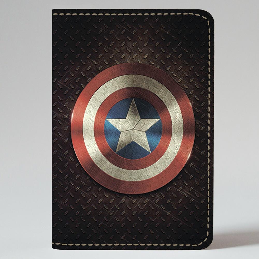 Обложка на автодокументы 1.0 Fisher Gifts 226 Капитан Америка (эко-кожа)
