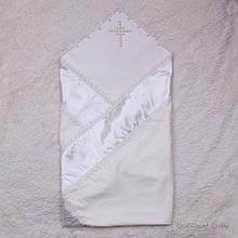 Крестильное полотенце Жемчуг айвори