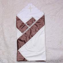 Крыжма нарядная торжественная Жемчуг шоколад