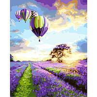 """Картина раскраска по номерам """"Полет над лавандовым полем"""" для взрослых и детей"""