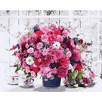"Набор для рисования ""Розовые хризантемы"" 40х50см, Без Коробки"