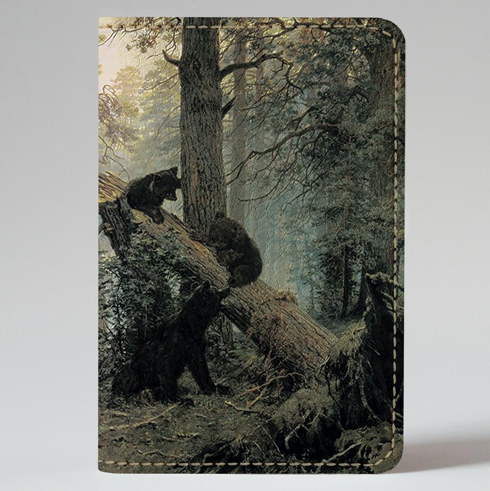 Обкладинка на автодокументи v.1.0. Fisher Gifts 306 Ранок у сосновому лісі. Шишкін (еко-шкіра)