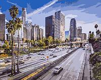 """Картина раскраска по номерам """"Летний Лос-Анджелес"""" для взрослых и детей"""