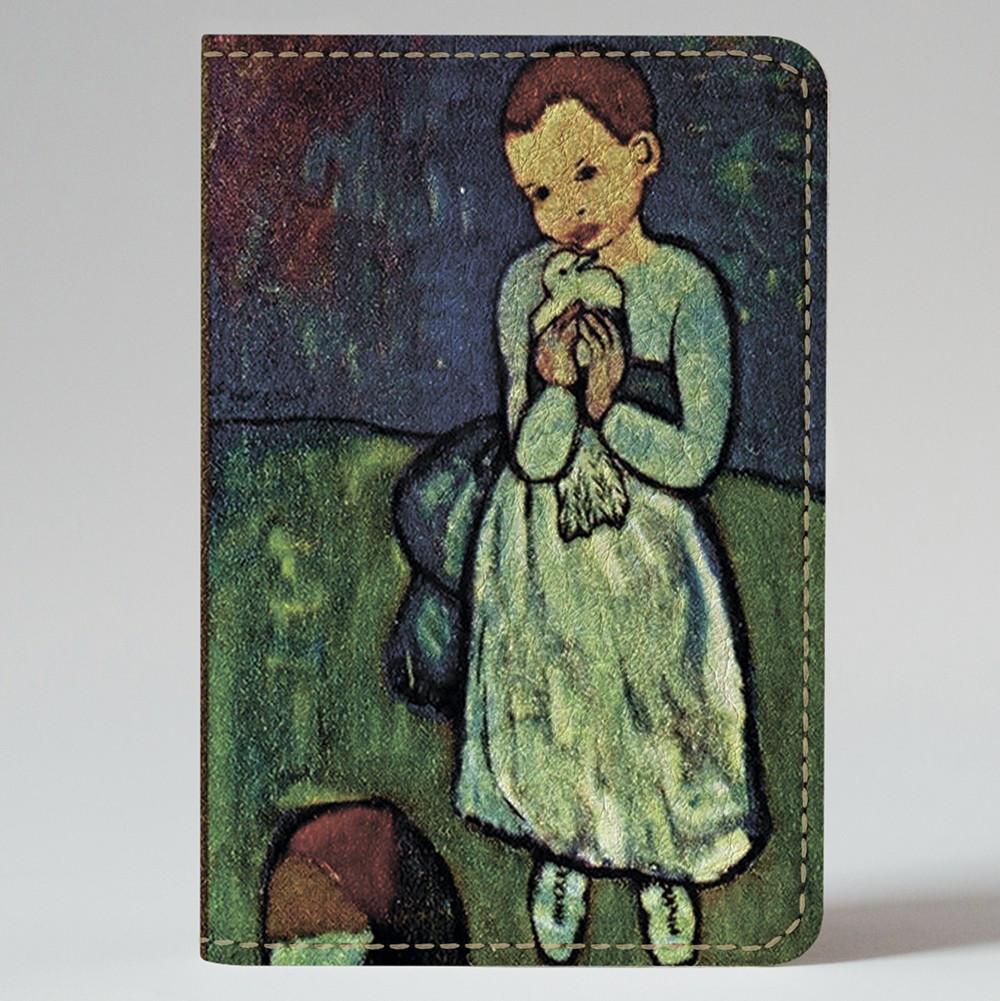 Обложка на автодокументы Fisher Gifts v.1.0. 326 Ребенок с голубем. Пабло Пикассо (эко-кожа)